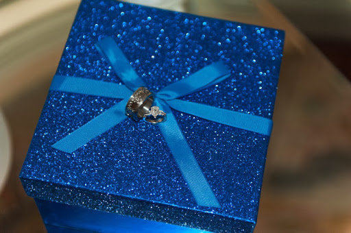 gift box with wedding bands www.roomsrevamped.com