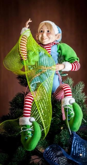 Elf in the Christmas tree roomsrevamped.com
