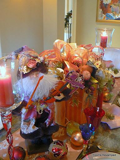 close up of Santa and the gift box roomsrevamped.com