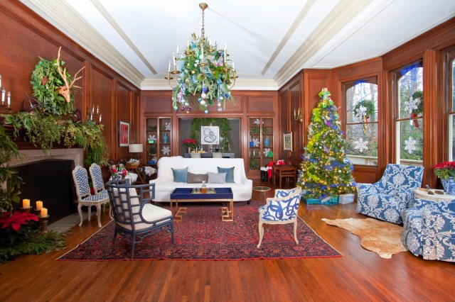 2014 Christmas at Callanwolde-Library roomsrevamped.com