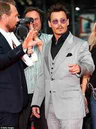 Johnny Depp wearing grey www.roomsrevamped.com