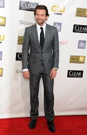 Bradley Cooper in grey suit. www.roomsrevamped.com