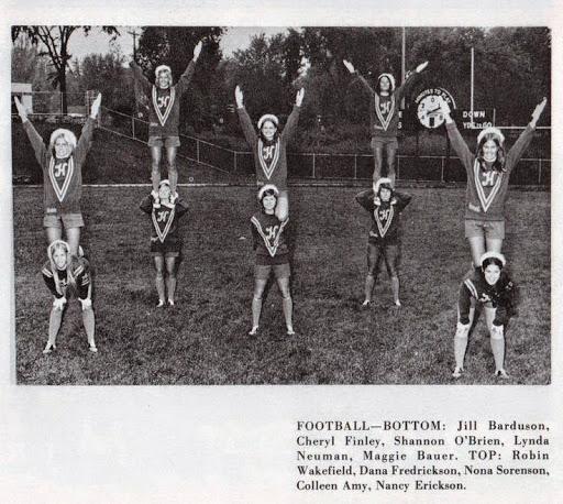 Me as a Football cheerleader 1973. www.roomsrevamped.com