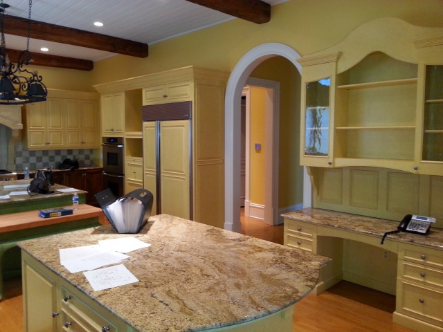 Before shot of kitchen for show house www.roomsrevamped.com