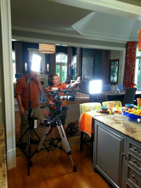 filming at the 2015 Atlanta Decorator's Show House