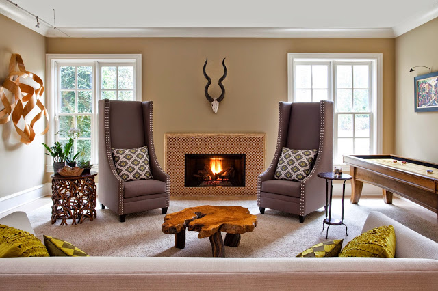 Dark colors and animal motif for male decor Rooms Revamped Interior Design