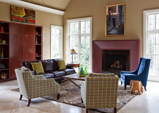 Masculine family room www.roomsrevamped.com