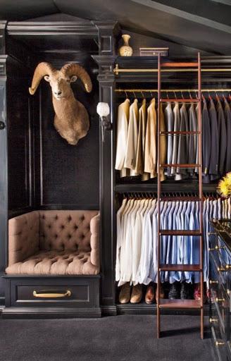 Masculine closet Rooms Revamped Interior Design