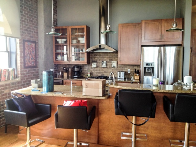 Before shot of the kitchen by Robin LaMonte/Rooms Revamped Interior Design
