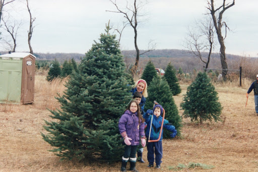family at the tree farm in New Jersey