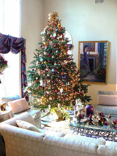 11' Christmas tree in our living room in New Jersey