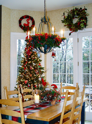 tree in the kitchen