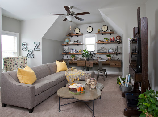 Kid's play/study room designed by Robin LaMonte of Rooms Revamped Interior Design