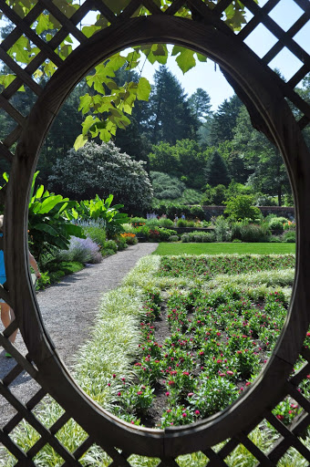 Looking through the arbor at the Walled Gardens at the Biltmore