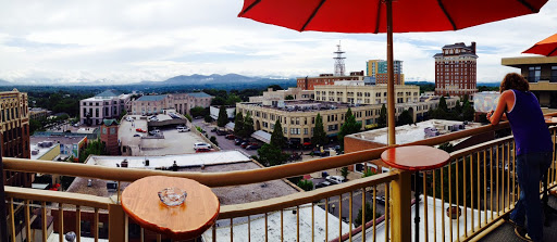 Sky Bar overlooking downtown Asheville