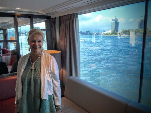 All set for dinner and ready to meet my fellow passengers on this Rhine River cruise.