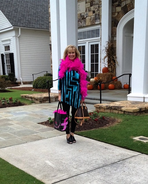 Robin LaMonte is attending a pink ribbon charity party