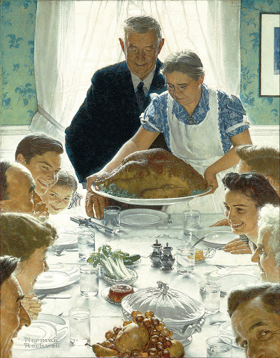 Norman Rockwell, Freedom from Want, oil on canvas, 1943